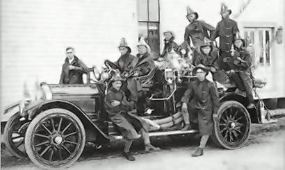 "Photo of the Leesburg Fire Department in 1918, part of the book ""Images of America: Leesburg."""