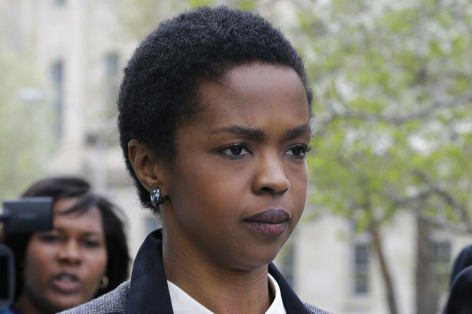 Singer Lauryn Hill, shown in April walking from federal court in Newark, N.J., started a three-month prison term in Connecticut on Monday.