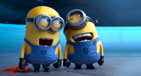 """This film publicity image released by Universal Pictures shows the minion characters in """"Despicable Me 2."""""""