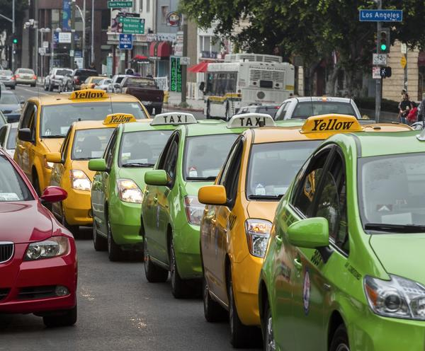 Taxis protest web-based ride-share services