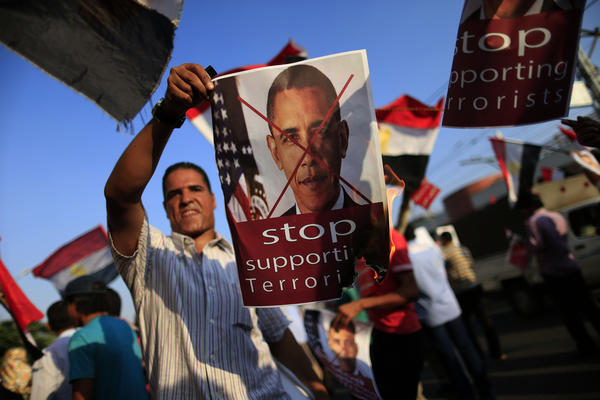 Egyptians protest in Cairo, Egypt
