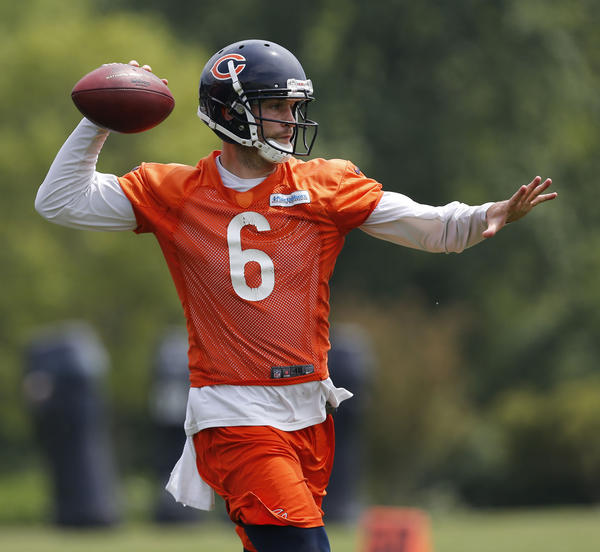 Bears quarterback Jay Cutler at minicamp.