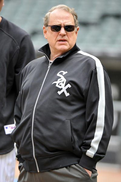 Jerry Reinsdorf before a White Sox game at U.S. Cellular Field.