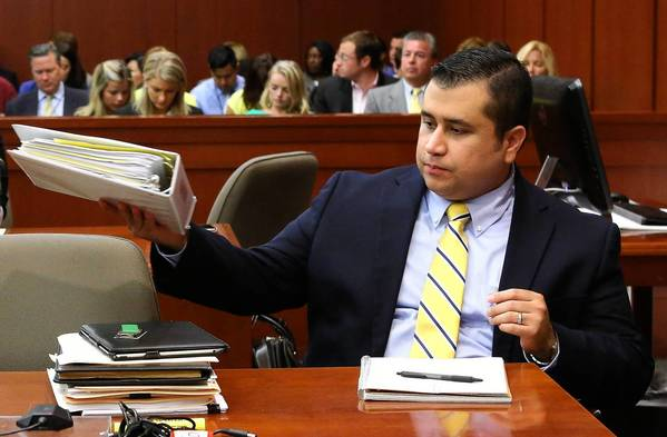 George Zimmerman in court Monday.