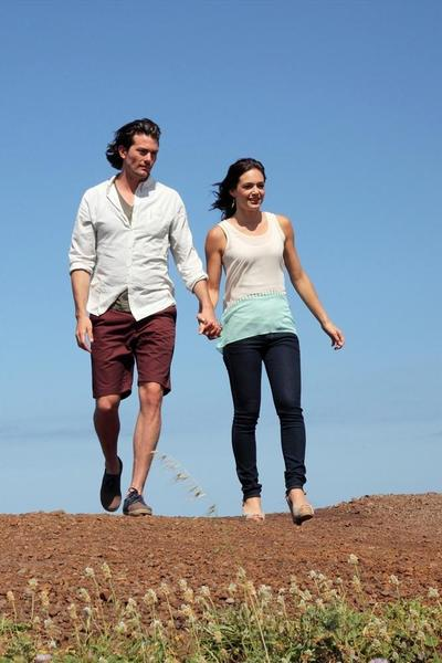 Brooks and Desiree drive to the top of the mountain, where they hold hands and so forth.