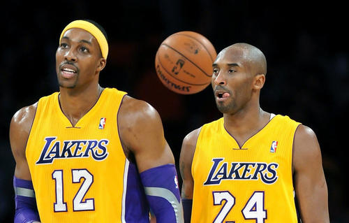 There have been periodic reports of a feud between Dwight Howard (12) and Kobe Bryant (24) since Howard joined the Lakers. The two allegedly nearly fought in the locker room over trash talking and Howard's clownish disposition.