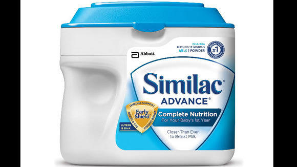 Similac is one of the baby formula brands made by Abbott Laboratories.