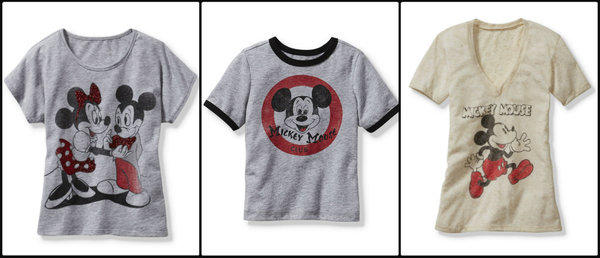 "Old Navy and Disney Consumer Products' ""Mickey Through the Decades"" collection includes 28 vintage-style graphic T-shirts featuring Mickey and friends as they've looked over the years."
