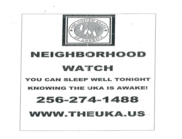 Flyers promoting a neighborhood watch by the United Klans of America were distributed around Milford.