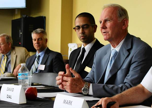 Former Naperville police chief David Dial was a panelist at a meeting on immigration reform in Naperville.