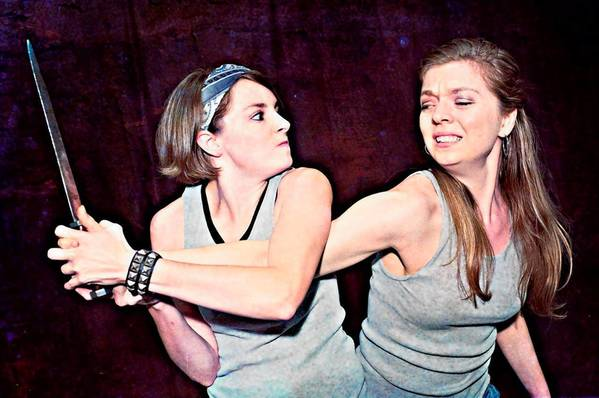 "Mary Spurlock (left) and Samantha O'Hare are in the cast of ""Violin(ce)."""