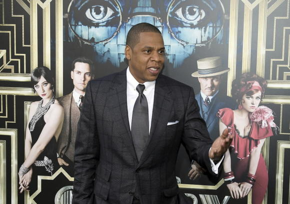 "Jay-Z arrives at the world premiere of ""The Great Gatsby"" last May in New York City."
