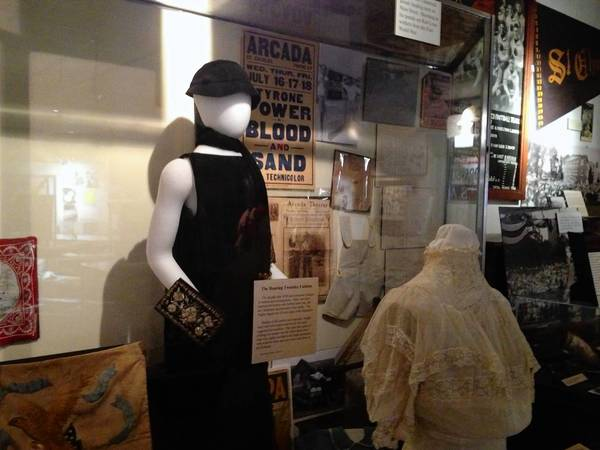 An exhibit at the St. Charles Heritage Center is shown here.