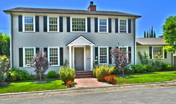The New England-inspired traditional home was built in 2009.