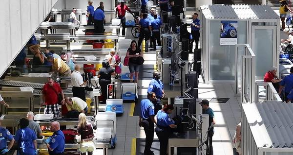 TSA operations at Orlando International Airport in June.