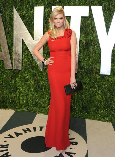 Kate Upton attends the 2012 Vanity Fair Oscar Party. The magazine launches a digital video channel with original content.