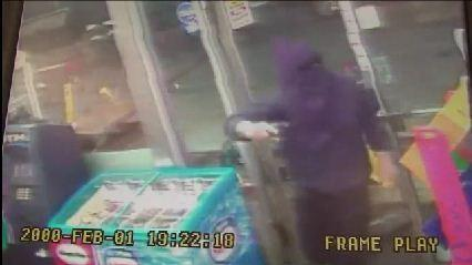 Police are looking for two men who wore ski masks, gloves and bagging clothing while robbing a Fort Lauderdale convenience store at gunpoint.