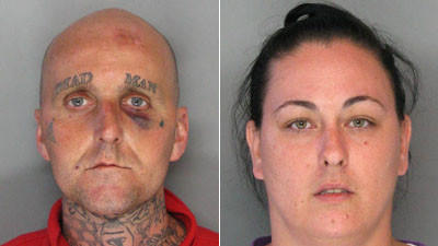 Michael Singer, 35 (left), and Shelbie Mech, 31