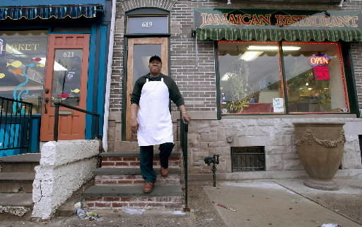 Winston Barnes owns Winston's, a Jamaican restaurant on Seventh Street in Allentown.