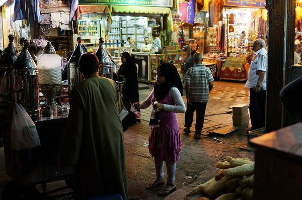 Egyptians shop in a market in Cairo on the eve of Ramadan.