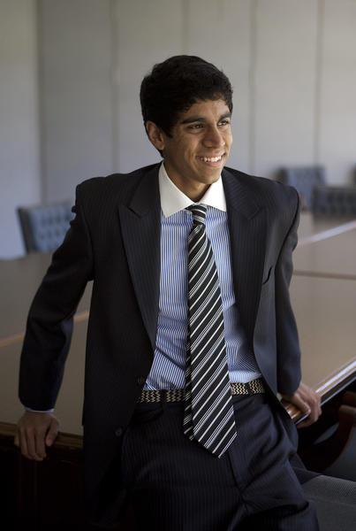 Vinay Nayak at high school in Hinsdale, Ill., in 2010.