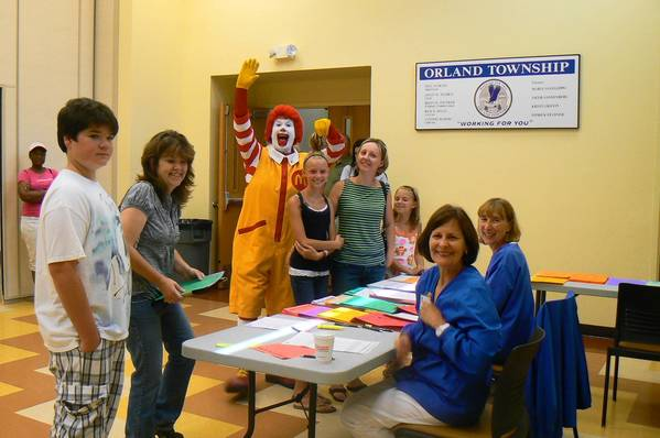 Ronald McDonald says hello to nurses and attendees at a previous Orland Township Health Fair. The Ronald McDonald Care Mobile is a regular at the fair. This year's Orland Township Health Fair is July 13 from 9 a.m. to 1 p.m. at 14807 S. Ravinia Ave., Orland Park