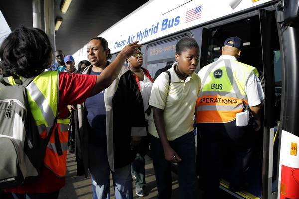 Red Line riders have shifted to shuttle buses during the Red Line South shutdown.