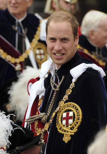 Prince William (born 1982) is second in line for the throne behind his father, Prince Charles, Prince of Wales.