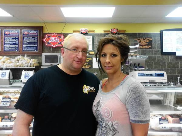 Bob and Denise Crimo at Bob's Pantry and Deli.