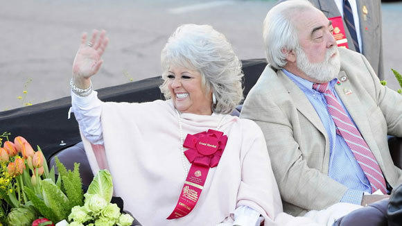 Paula Deen, with husband, Michael Groover, serves as grand marshal of the 2011 Tournament of Roses Parade in Pasadena, Calif.