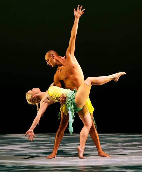 Jeanne Travers choreographed a piece in 2012 for dancers Emily Luedtke and Justin Nunez (pictured). Travers will return as a choreographer this year.