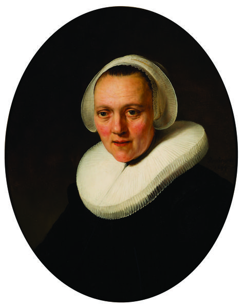"""Portrait of a Forty-Year-Old Woman, possibly Marretje Cornelisdr. van Grotewal"" was painted by Rembrandt van Rijn in 1634."