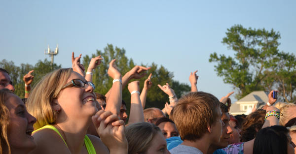 A crowd waits for the bands to take to the stage at Rockfest in July 2012. American News File Photo