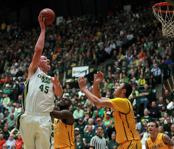Colton Iverson (45) is the 21st player in Colorado State history to be selected in the NBA draft.