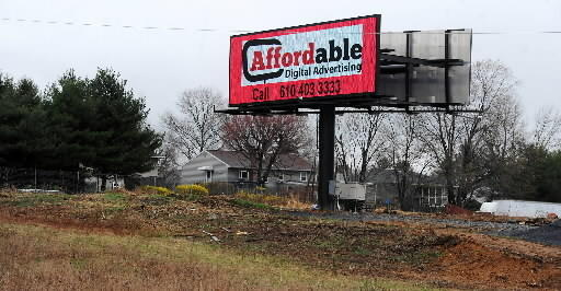Easton leased a hillside of Hackett Park along Route 22 to Adams Outdoor for a digital billboard similar to the one above, which is on Route 22 in Palmer Township.