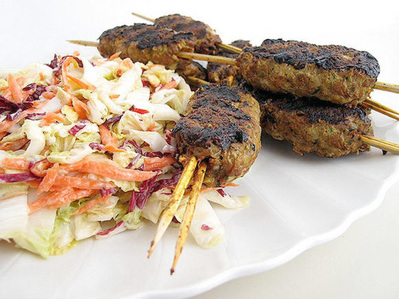Grilled Lamb Koftas.