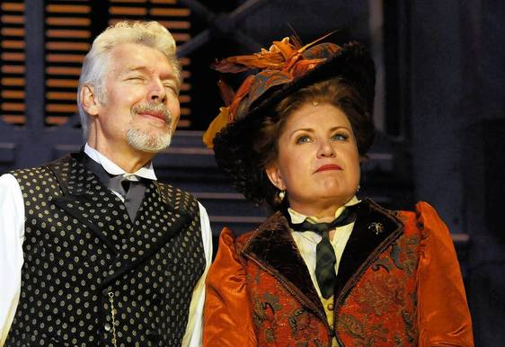 "Tony Sheldon and Klea Blackhurst in the Goodspeed Musicals production of ""Hello Dolly!"""