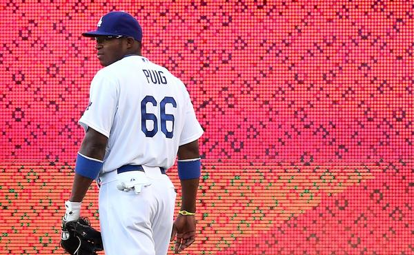 Dodgers right fielder Yasiel Puig has made a market for himself.