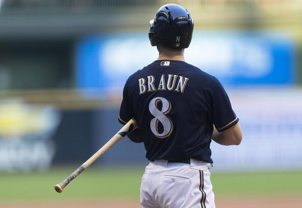 The Brewers' Ryan Braun.