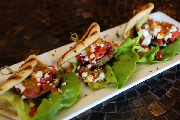 Lamb sliders at Iza Tapas Bar in Orlando's Thornton Park neighborhood.