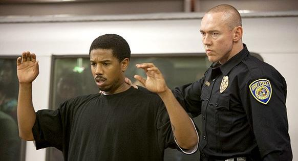 "Michael B. Jordan and Kevin Durand in a scene from ""Fruitvale Station."""