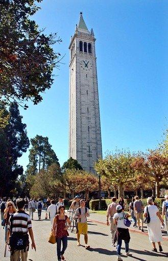 The 1960 Master Plan for Higher Education in California created a partnership between the university, the public and the state. Above: The 307-foot-tall Sather Tower on the University of California at Berkeley campus.