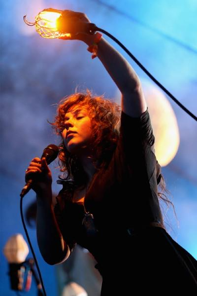 Megan James of Purity Ring during the 2013 Coachella Valley Music & Arts Festival.