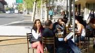 Santiago dining via rail stops