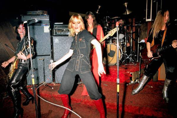 The Runaways at CBGB in New York on Aug. 2, 1976, led by front-girl Cherie Currie, all of 16.