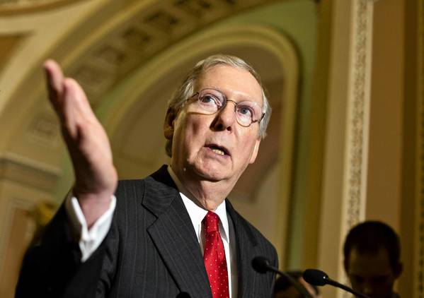 "Sen. Mitch McConnell (R-Ky.) says instead of ""advise and consent,"" Democrats want the Republicans to ""sit down and shut up."""