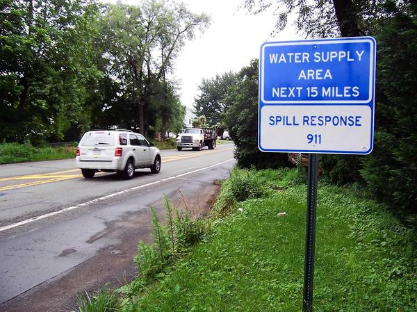 Signs such as this on southbound Cedar Crest Boulevard just south of Route 22 have been appearing in the Lehigh Valley recently.