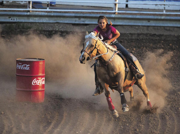 Barrel racer Madison Rau of Mobridge is one of the South Dakota qualifiers for the National Finals High School Rodeo.