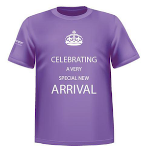 Lucky Heathrow fliers on the day Kate Middleton gives birth will receive this commemorative T-shirt.