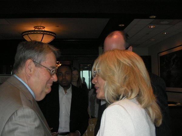 Senate President Don Gaetz, R-Niceville, State Sen. Maria Sachs, Democrat who represents Broward and Palm Beach counties. They talk during a Gaetz visit to Fort Lauderdale, where he spoke to a Chamber of Commerce breakfast and answered a reporter's questions about Sachs's legislation to regulate parasailing.